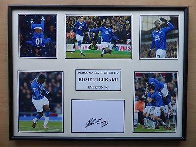 Romelu Lukaku Signed Everton Multi Picture Display