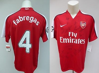 2009 Arsenal Champions League Fabregas Shirt Signed by 23 (6)
