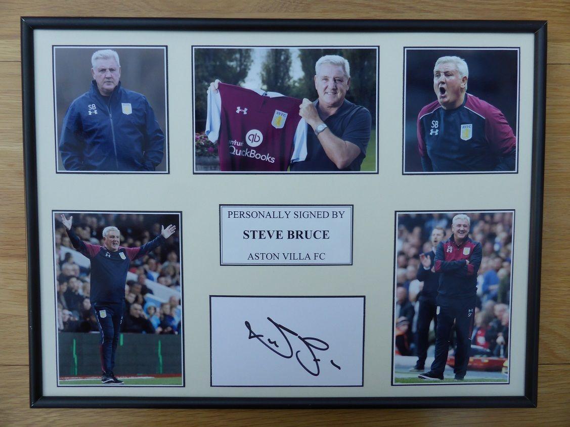 Steve Bruce Signed Aston Villa Multi Picture Display 9340 Footy Autographs