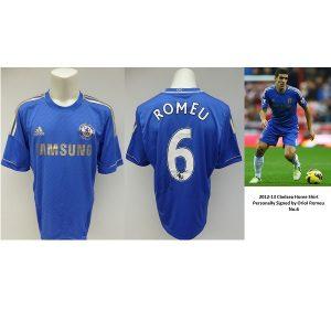 8025615d1 2012-13 Chelsea Home Shirt Signed by Oriol Romeu No.6 – Rare Shirt (10178)