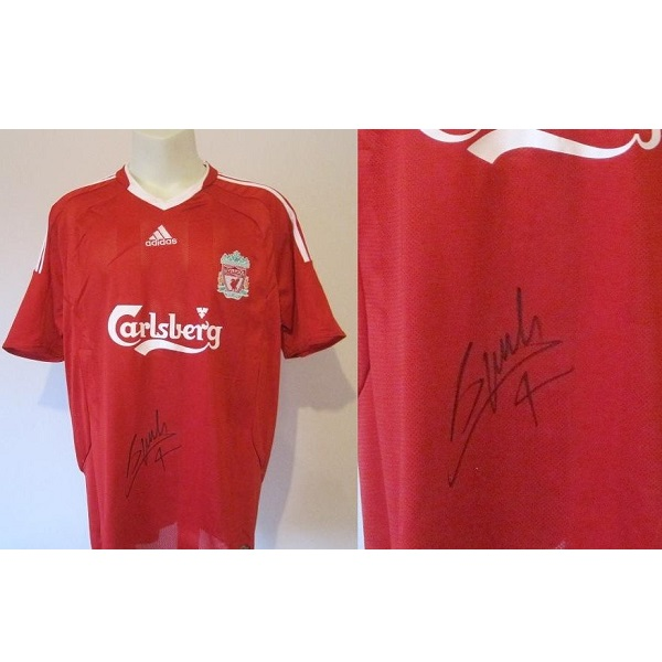sale retailer 2db1f 9f404 2009-10 Liverpool Home Shirt Signed by Alberto Aquilani (68)