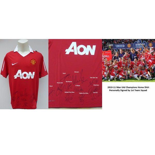 watch 96ea8 5ab23 2010-11 Man Utd Champions Home Shirt ...