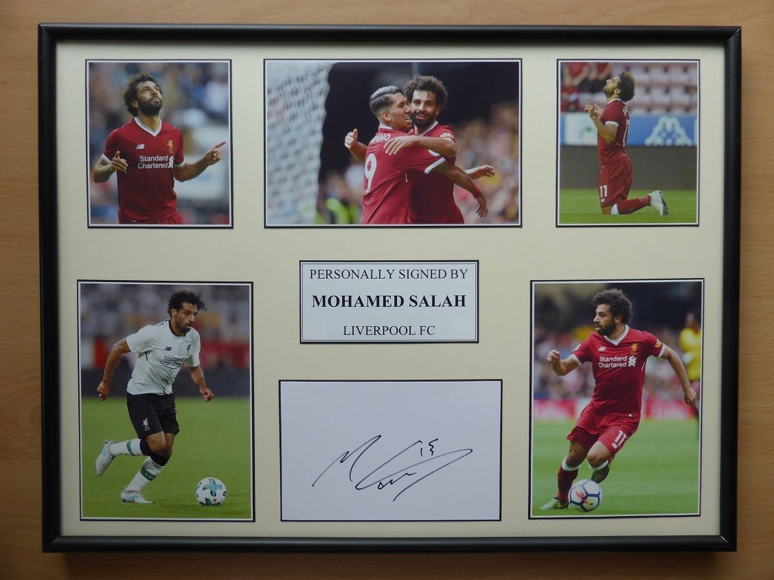 best website 32df4 6ea40 2017-18 Mohamed Salah Signed Liverpool Multi Picture Display (11378)