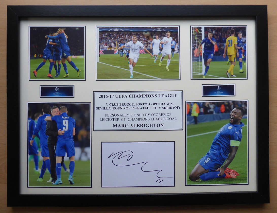 b8a5b97bad9 2016-17 Leicester City Signed Champions League Journey Unique ...