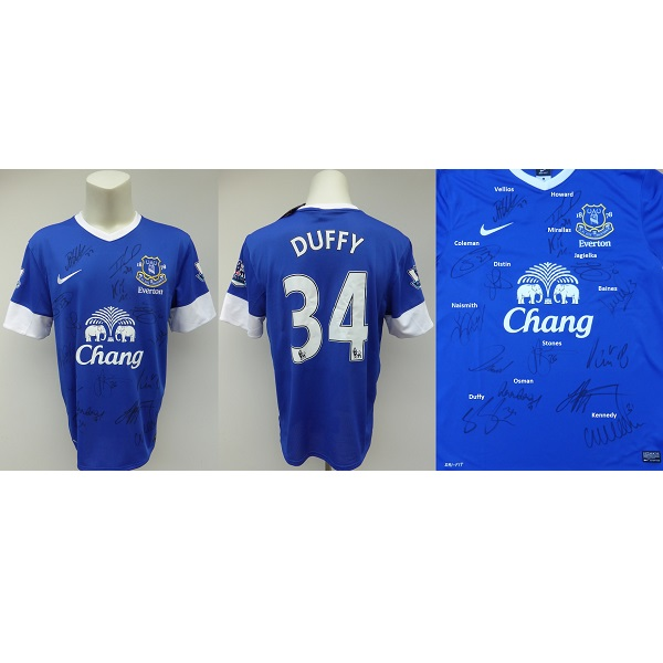 new concept 94091 f5d40 2012-13 Shane Duffy Squad Signed Everton Shirt inc. Howard & Coleman (12187)