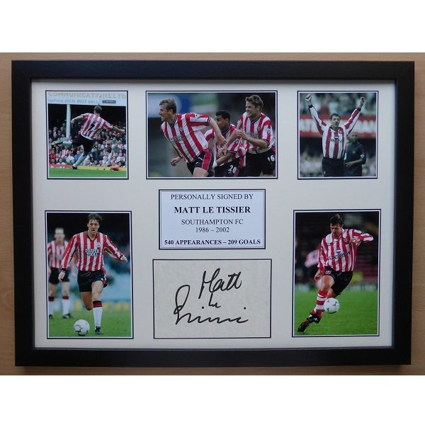 2536f71a6 Matt Le Tissier Signed Southampton Multi Picture Career Display ...
