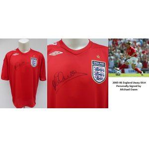 0c7482c4e 2005-06 England Away Shirt Signed by Michael Owen – Liverpool   Man Utd  (15201)