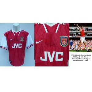 1997-98 Arsenal Double Winners Home Shirt Signed by Captain Tony Adams  (15326) 6d372c26b