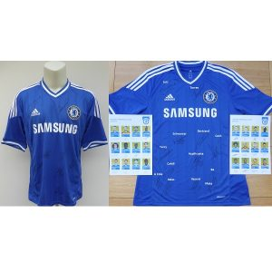 ed878d7a6 2013-14 Chelsea Home Shirt Squad Signed inc. Terry   Hazard + COA   Map  (15310)