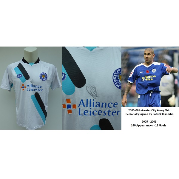0eb80ed26 2005-06 Leicester City Away Shirt Signed by Patrick Kisnorbo – COA (15395)
